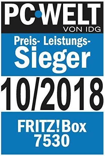 FritzBox 7530 Auszeichnung